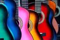 Картинка цвета, музыка, гитары