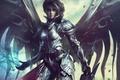 Картинка Archangel of the Infinite, Vesudah, крылья, арт, ангел, девушка, меч, фантастика, доспех