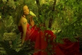 Картинка арт, tattoo, природа, попугай, art, girl, butterfly, Nature, девушка, бабочка, parrot, тату, фентези