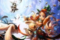 Картинка игра, девушка, кролики, зайцы, аниме, Kung foo