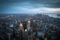 Картинка Manhattan, New York City, Манхэттен, панорама, Нью-Йорк, здания