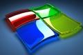 Картинка компьютер, стекло, цвет, логотип, эмблема, windows, блик, объем, операционная система