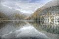 Картинка зима, горы, озеро, Абхазия, Рица