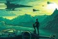 Картинка вектор, корабли, арт, Звёздные войны: Пробуждение силы, шлем, пилот, Star Wars: The Force Awakens, космические, ...