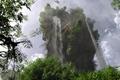 Картинка гора, арт, природа, водопад, деревья, скала, листва, klontak, пейзаж