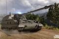 Картинка САУ, дорога, armored warfare, PzH2000, лес
