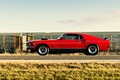 Картинка ford mustang, red, muscle car, автообои, мустанг, mach 1, форд, lunchbox photoworks
