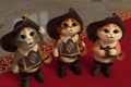 Картинка Puss in Boots: The Three Diablos, Кот в сапогах: Три чертенка, коты, сапоги, зеленые глаза, ...
