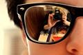 Картинка очки, Обои, отражение
