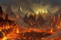 Картинка Дракон, вулкан, рисунок, lineage 2