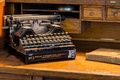 Картинка old typewriter, макро, фон