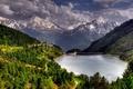 Картинка Водохранилище, плотина, горы