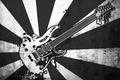 Картинка Гитара, музыка, ноты, вектор, черно-белая