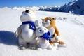 Картинка гора, олимпийские талисманы, Сочи 2014, снег