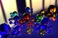 Картинка цвет, стекло, отражение, шар, абстракция, молекула, массажер
