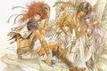Картинка друзья, manga, Mamiya Oki, длинные волосы, манга, ступени, art, погоны, кинжал, Teiou, Ja-Dou, Ashray, рыжий, ...