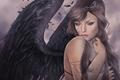 Картинка ангел, девушка, крылья