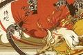 Картинка Лис, драконы, пламя