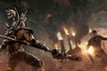Картинка Дым, Avalanche Studios, Warner Bros. Interactive Entertainment, Оружие, Огонь, Пламя, Mad Max, Безумный Макс, Закат