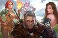 Картинка art, witcher, geralt, Triss Merigold, Gwynbleidd, CD Projekt RED, The Witcher 3: Wild Hunt, Wild ...