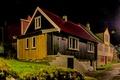 Картинка Klaksvik Faroe Islands, Дания, дом, ночь, улица