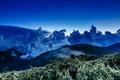 Картинка cloud, wave, mountain, star, sea, sunset, Taiwan, night, moonlight