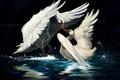 Картинка Лебеди, рисунок, 158
