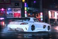Картинка Mercedes-Benz, Future, SLS, AMG, Night, by Khyzyl Saleem, White, Supercar, Tuning