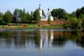 Картинка Тишково, Подмосквье., Церковь Николая Чудотворца, берег, река