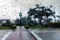 Картинка капли, город, дождь, часы