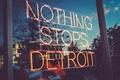Картинка витрина, Detroit, магазин, отражения, Детройт, USA, США