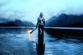 Картинка Kindra Nikole, девушка, факел, доспехи