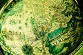 Картинка Глобус, карта мира, под старину, зеленый фон