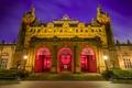 Картинка Houses, музей, Kelvingrove, Scotland, ночь, Glasgow, Шотландия, фонари, Museum