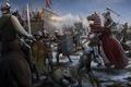 Картинка оружие, конь, войны, знамя, битва, меч, шит, копье, средневековье