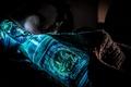 Картинка Nuka Cola, сияние, синяя, блеск, Квантовая бутылка