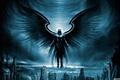 Картинка город, крылья, руины, архангел