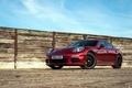 Картинка забор, Porsche, стена, E-Hybrid, небо, красный спорткар, Panamera