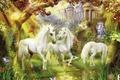 Картинка единорог, фантастика, лошадь, Thomas Kinkade