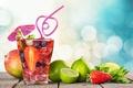 Картинка fruit, paradise, drink, beach, пляж, cocktail, sea, море, коктейль, фрукты, summer, tropical, fresh