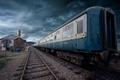 Картинка поезд, небо, железная дорога