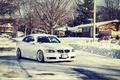Картинка снег, stanceworks, зима, дорога, e93, bmw, 335i, 3series, ccw, stance
