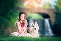 Картинка собака, Ashlyn Mae, девочка