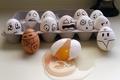 Картинка эмоции, коробка, яйца, падение, ужас, желток