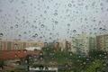 Картинка bokeh, buildings, rainy, drops