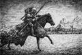 Картинка воин, всадник, крепость, Рыцарь, Судак