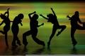 Картинка веселье, танцы, движение, тени, люди, танец, фигуры, музыка, силуэты
