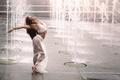 Картинка танец, девушка, фонтаны, Romina Micheletty