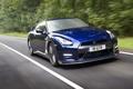 Картинка синий, скорость, R35, Nissan GTR, RI GTR