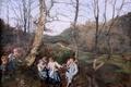 Картинка картина, 1861, Фердинанд Георг Вальдмюллер, Ferdinand Georg Waldmüller, австрийский художник, Vorfrühling im Wienerwald